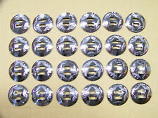 Quantity of 24 Slotted Silver Leather Craft Saddle Conchos 1-1/4 Inch Diameter