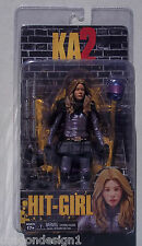 KICK ASS 2. HIT-GIRL. UNMASKED ACTION FIGURE. KA2 MOVIE. 2013. NEW ON CARD. NECA