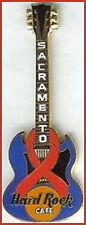"Hard Rock Cafe SACRAMENTO 1999 ""JENNA"" GUITAR PIN Red Ribbon"