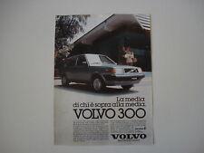 advertising Pubblicità 1982 VOLVO 300 GL