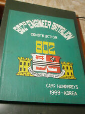 US Army 802nd Engineer Battalion Construction Camp Humpreys Korea 1969 Yearbook
