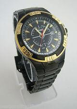 NEW-A II Z by TIMEX BLACK,GOLD IP S/STEEL BRACELET,DATE MEN WATCH-V0V730-MSR$100