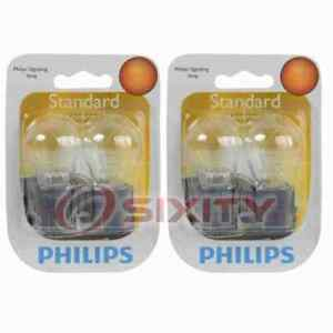2 pc Philips Cornering Light Bulbs for Cadillac DTS Seville 1998-2011 ef