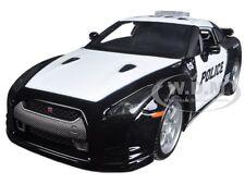 2009 NISSAN GT-R (R35) POLICE CAR BLACK/WHITE /1/24 MODEL CAR BY MAISTO 32512
