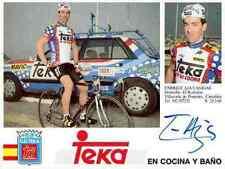 ENRIQUE AJA CAGIGAS Team TEKA Signed Autographe cycling Signé cyclisme LA VUELTA