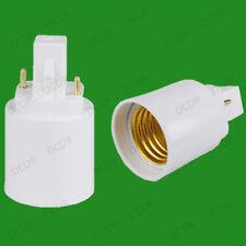 40x G24 2 Pin To E27 ES Screw Light Bulb Socket Lamp Adaptor Converter Holder