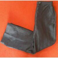 Precis Women's Navy Blue Linen Blend Trousers Size 8 Inside Leg 28 inches