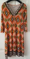 LADIES WALLIS SIZE 14 MULTI COLURED FESTIVAL OR OTHER TYPE DRESS.