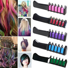 Temporary Dye Colour Hair Chalk Soft Pastel Cream Comb Salon Hair Brush WG