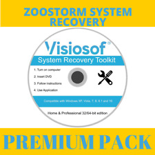 ZOOSTORM System Recovery Boot CD DVD Repair Restore Windows 10 8 7 Vista XP