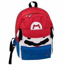 Super Mario Bros. Red Mario Canvas Backpack Student School Bag