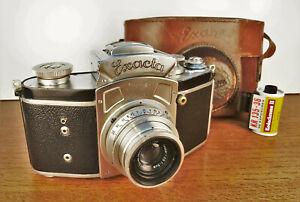 Ihagee Kine EXACTA 35mm camera, Zeiss Tessar f3.5/50mm lens/case. Ver. 5 1948!