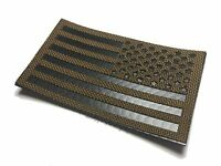"""Reversed Infrared reflective Coyote brown IR US Flag Patch 3.5x2"""" Special Forces"""