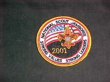 2001 National Jamboree gold/yellow border round patch   c5