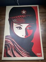 Shepard Fairey Obey Giant Mujer Fatale Art Print Poster Signed Offset Lithograph