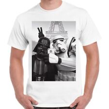Star Wars Selfie Funny Parody Darth Cool Paris Vintage Retro T Shirt 2305