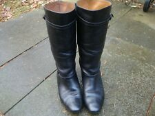 Frye Women's Black Leather Mid Calf Strap Boots Size 7.5 M