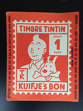 Rare Grand point Timbre Tintin