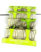 16ct (4-4pk) Vintage D15 Bulbs GE Merry Bright Outdoor Xmas Clear Lights NOS