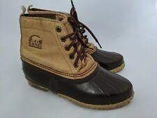 Sorel Tan Leather Brown Rubber Boots UK Size 6 Snow Ski Walking