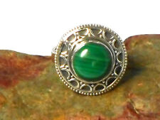 MALACHITE   Sterling  Silver  925  Gemstone  RING  -  Size: O  -  Gift Boxed