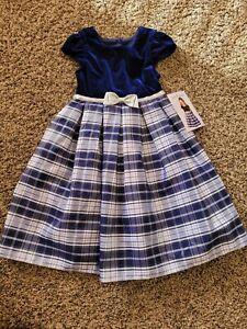 Jona michelle dress Size 4 Plaid Blue