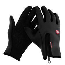 Fahrrad Handschuhe Vollfinger Outdoor Sport Ski Touchscreen winddicht Schwarz XL