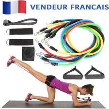 12pcs Bandes De Résistance Set Elastique Fitness Homme Femme Musculation Pilates