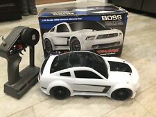 Traxxas Ford MUSTANG BOSS 302 White Black Remote Control 1/16 Rc Fun Fast