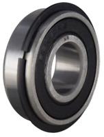 6007-2RSNR Sealed Ball Bearing 35x62x14 w//Snap Ring C Clip Flange 6007RSNR
