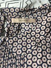 Rutzou Danish designer Silk Top Mini Dress Tunic Geometric Pattern Size 36