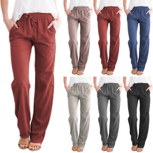 Womens Long Pants Loose jogging Ladies Summer CasuaL Joggers Bottoms Trousers