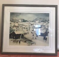 """Will Moses """"Let It Snow"""" Positone Lithograph / Signed And Numbered 3/500  COA"""