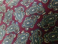 Beautiful, Christian Dior, Burgundy-Blue Paisley Silk Neck Tie