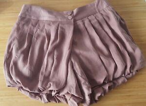 Womens Korean Handmade pink Silk Puff-ball Mini Shorts Free Size Waist 37cm