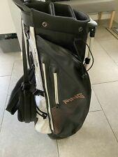 2019 PING Hoofer Monsoon Waterproof Golf Stand Bag / 5-Way / Rainhood /Very Good