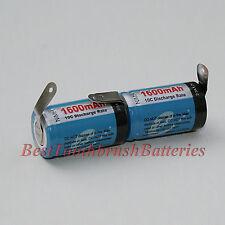 Braun Oral-B Sonic Complete Toothbrush Repair 1600 mAh Ni-MH Battery, 1 Pair