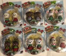 Lil Woodzeez~HOLIDAY Bobbleez~Bobbleheads~CHRISTMAS Complete LOT of 12 (6 Packs)