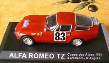 ALFA ROMEO TZ #83 COUPES DES ALPES 1964 RED IXO 1/43 SHELL ROLLAND AUGIAS