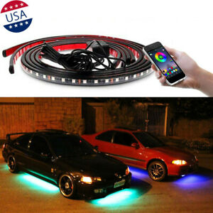JDM RGB LED Underbody Car Neon Light Chassis Atmosphere Lamp Light APP Control