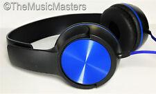 NEW! DJ Style Stereo Headphones HQ Sound Home Audio Studio Phone Tablet PC Blue