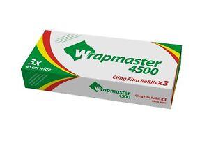 Wrapmaster 4500 Clingfilm Refills - 3 Rolls of Cling Film 45cm x 300 metre