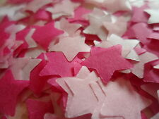 2000 Cerise/Pink/White/Tissue/Wedding/Party/Confetti/Stars/Decoration