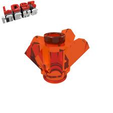 4 x [neu] LEGO Kristall 1 x 1 mit 4 Spitzen (Chi) - transparent-orange - 11127