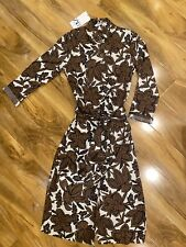BNWT ZARA XS BROWN FLORAL 100% COTTON LONG DRESS W/ BELT SOLD OUT BLOGGERS FAVE!
