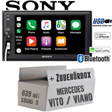 SONY Autoradio Pour Mercedes Vito/Viano 639 Bluetooth Apple CarPlaY USB Set Voiture