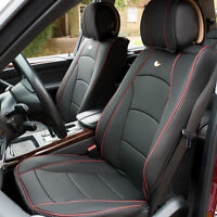 Car SUV Truck Leatherette Seat Cushion Covers Front Bucket Black For Auto