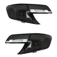 Smoked LED Tail Lights Black Lens Rear Lamp Assembly For Toyota Camry 2012-2014