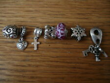 CHAMILIA BANGLE BRACELET W/ 6 ASSORTED CHARMS & 1 BEAD STERLING SILVER NEW & PO