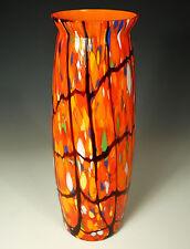 VERIFIED KRALIK ART Glass Spatter VASE~1920s Art Deco Era~Signed CZECHOSLOVAKIA~